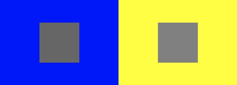 Oświetlenie stanowiska do retuszu zdjęć - percepcja koloru/kontrastu